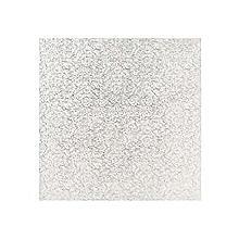 Quadratische Kuchenplatte, 30 cm silber