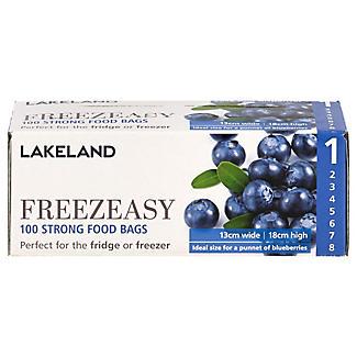 100 Freezeasy Food Freezer Bags- Flat (13 x 18cm) Size 1