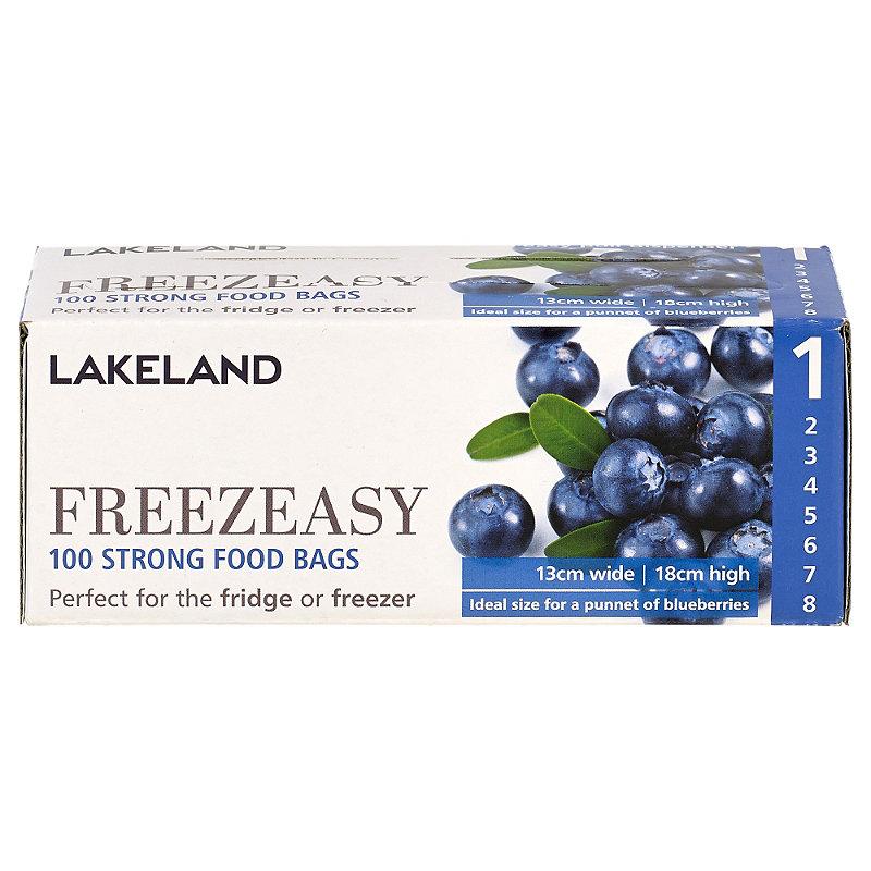 100 Flat Freezeasy Food Freezer Bags 13 x