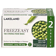 100 Freezeasy Food Freezer Bags - Gusseted (15 x 20cm) Size 2