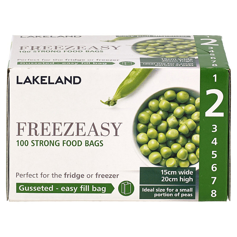 100 Gusseted Freezeasy Food Freezer Bags 15cm x