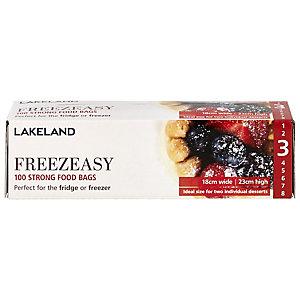 100 Freezeasy Food Freezer Bags - Flat (18 x 23cm) Size 3