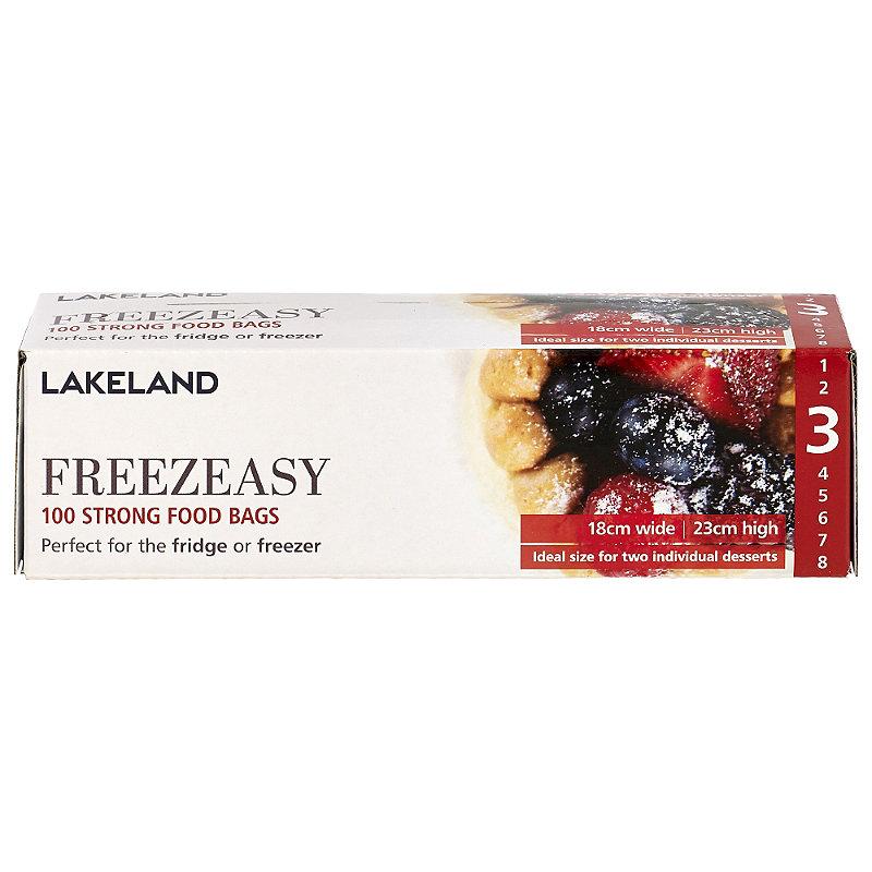 100 Flat Freezeasy Food Freezer Bags 18 x