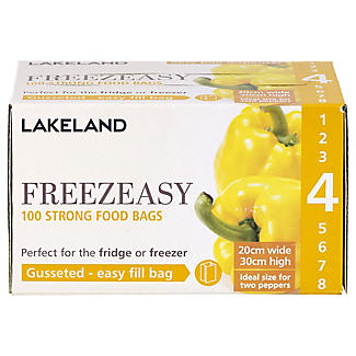 100 Gusseted Freezeasy Food Freezer Bags 20 x