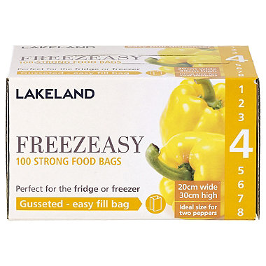 100 Freezeasy Food Freezer Bags - Gusseted