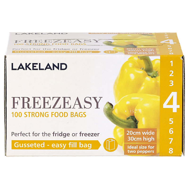 100 Freezeasy Food Freezer Bags - Gusseted (20
