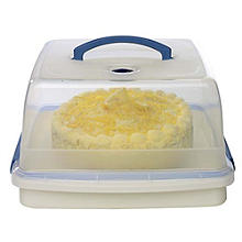 Lock & Lock Cake Carrier Caddy & Clear Lid - Square Holds 28cm Cakes