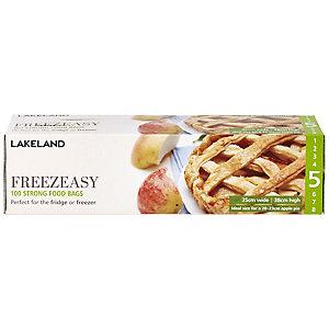 100 Freezeasy Food Freezer Bags - Flat (25 x 38cm) Size 5