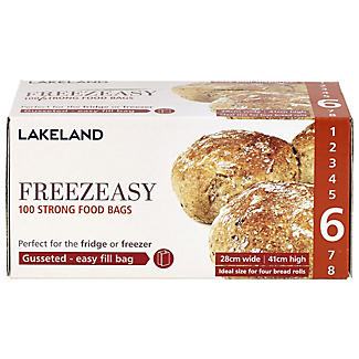 100 Freezeasy Food Freezer Bags - Gusseted (28 x 41cm) Size 6