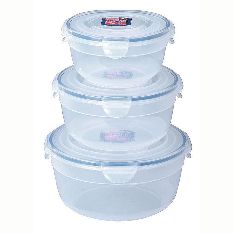 3 Lock & Lock Nesting Mixing Bowls 0.8L,