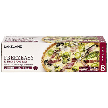 50 Freezeasy Food Freezer Bags - Gusseted