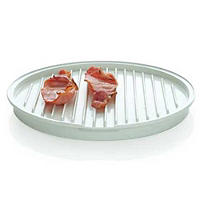 Microwave Cookware - White Bacon Crisper Tray