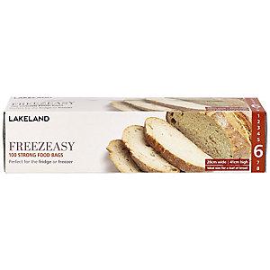 100 Freezeasy Food Freezer Bags - Flat (28 x 41cm) Size 6
