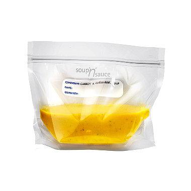20 Soup 'n' Sauce Press Seal Clear Freezer Storage Bags - 1L