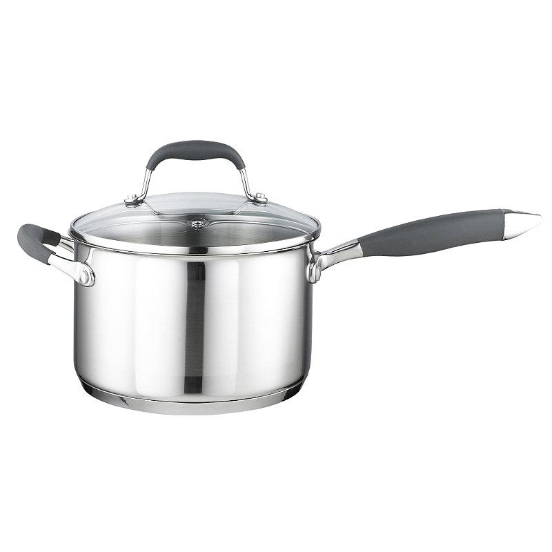 Stainless Steel Lidded Saucepan 3.7L - 20cm