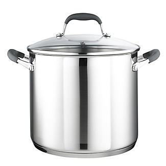 Stainless Steel Lidded Stock Pot Pan 8.9L -