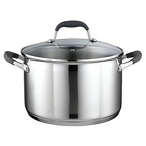 Lakeland Stainless Steel Lidded Casserole Pan 6.2L - 24cm