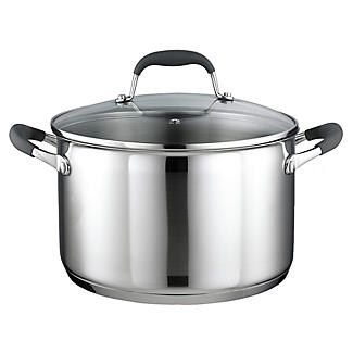 Stainless Steel Lidded Casserole Pan 6.2L - 24cm