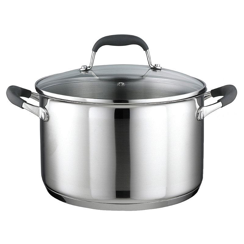 Stainless Steel Lidded Casserole Pan 6.2L - 24cm