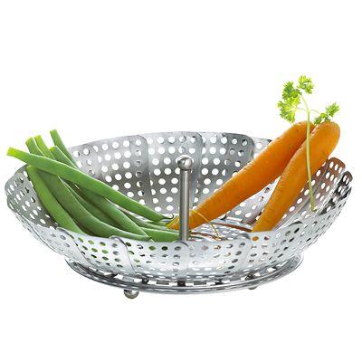 Foldaway Vegetable Steamer Basket Fits Most Pans
