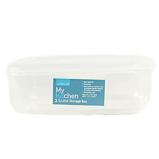 Microwavable Oblong Food Storage Container 3.5L