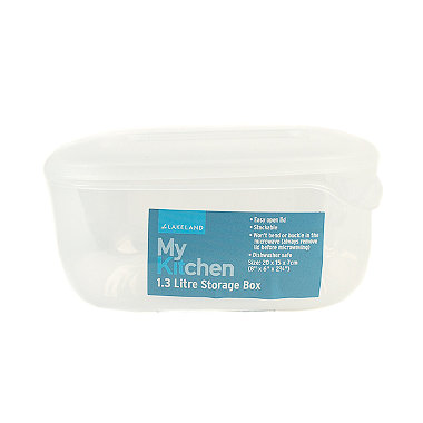 Microwavable Square Food Storage Container 1.3L