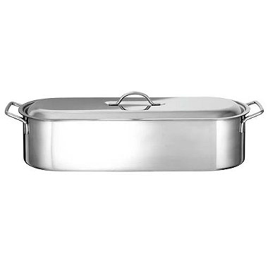Stainless Steel Long Fish Steamer Kettle - Rack & mp; Lid