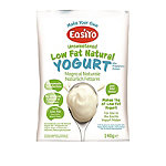 EasiYo Unsweetened Low Fat Natural 1kg Yogurt Sachet Mix (6 x 140g)