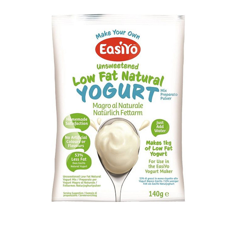 EasiYo Unsweetened Low Fat Natural 1kg Yogurt Sachet