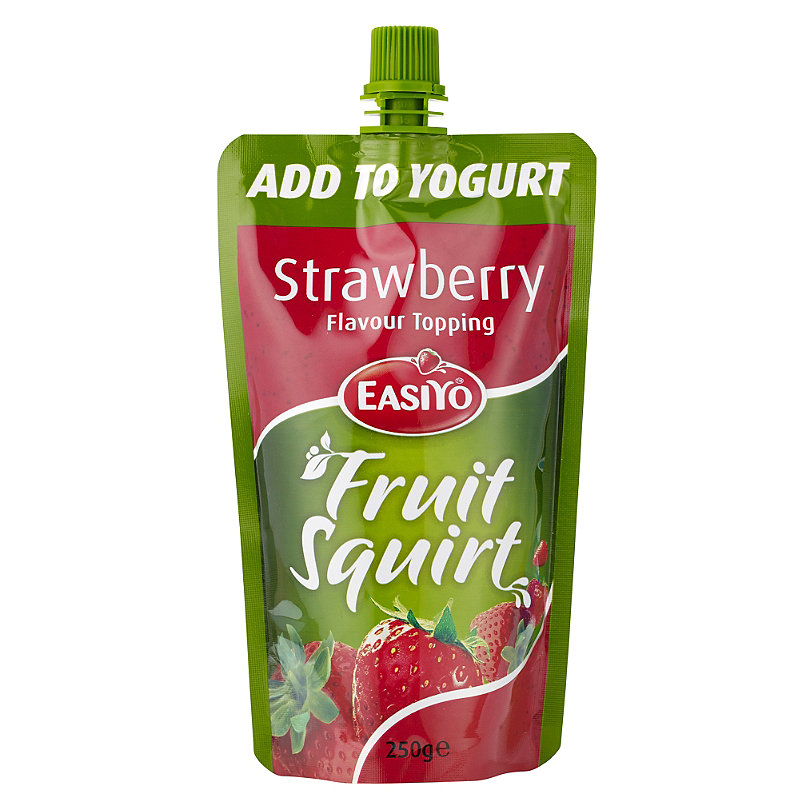 EasiYo Yogurt Fruit Squirt - Strawberry 250g