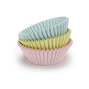 60 Lakeland Greaseproof Cupcake Cases - Pastel Colours