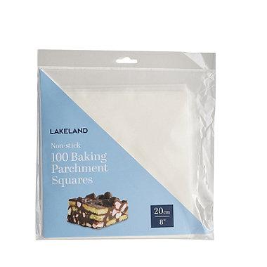 100 Baking Parchment Liner Paper Squares 20cm