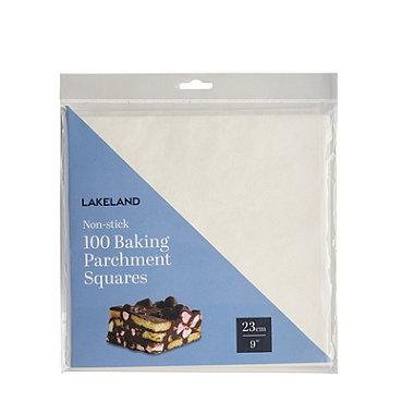 100 Baking Parchment Liner Paper Squares 23cm