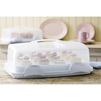 Cake Carrier Caddy & Lid - Holds 12 Cupcakes Or 24 Mini Muffins
