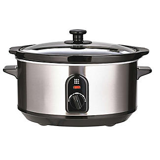 Lakeland Brushed Chrome Family Slow Cooker