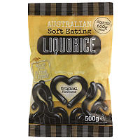 Australian Soft Eating Liquorice 500g Bag - Original Black