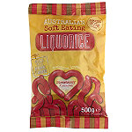 Australian Soft Eating Liquorice 500g Bag - Red Strawberry Flavour