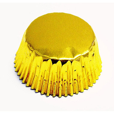 30 Gold Cake Cases