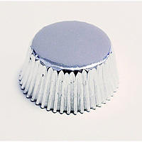 45 PME Greaseproof Mini Bon Bon Cake Cases - Metallic Silver
