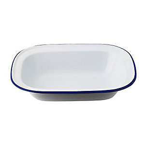 Traditional Enamel 18cm Oblong Pie Dish