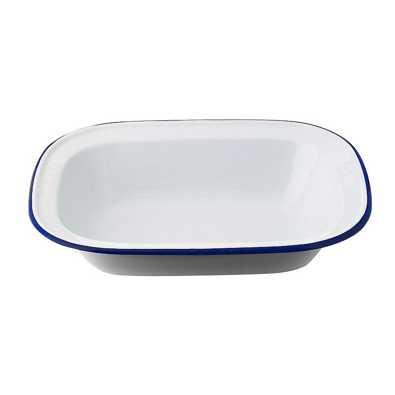 Traditional Enamel 18cm Oblong Pie Dish