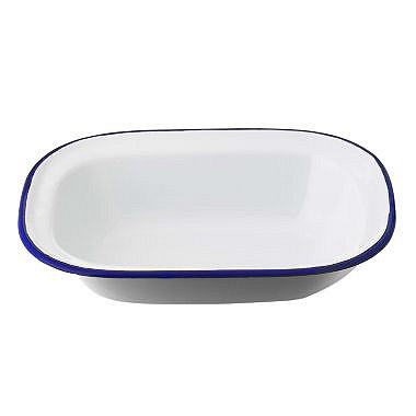 Traditional Enamel 20cm Oblong Pie Dish