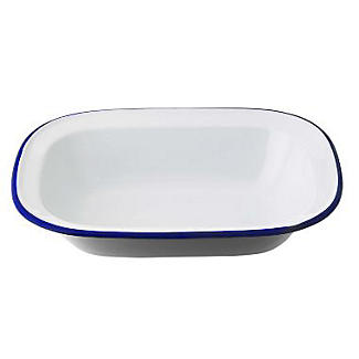Traditional Enamel 24cm Oblong Pie Dish