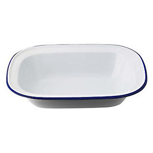 Traditional Enamel 26cm Oblong Pie Dish