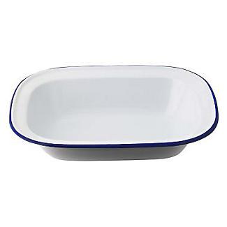 Traditional Enamel 26cm Oblong Pie Dish alt image 1