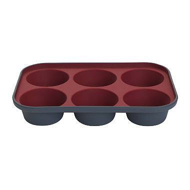 Lakeland Silicone 6 Hole Muffin Pan