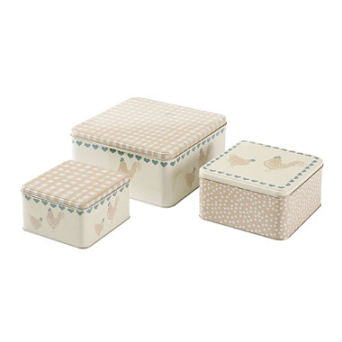 henrietta 3 square cake tins in cake storage at lakeland. Black Bedroom Furniture Sets. Home Design Ideas