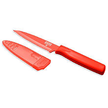 Kuhn Rikon Serrated Tomato Knife & Sheath 10cm Blade