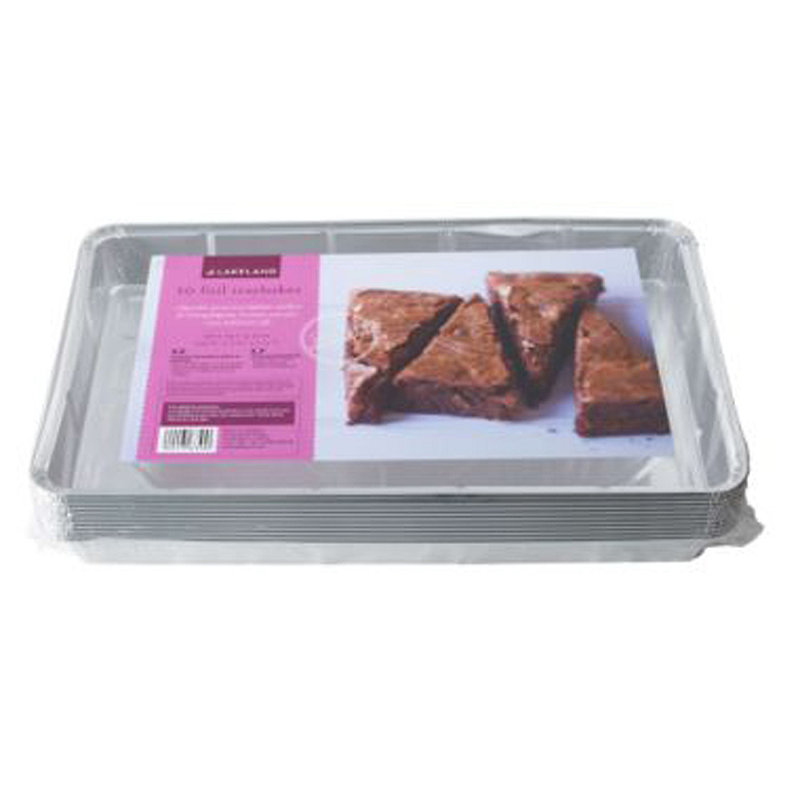 10 Disposable Foil Containers 32 x 19cm Traybake