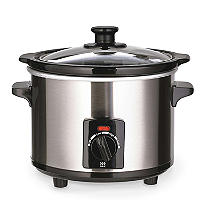 Lakeland Brushed Chrome 1.5 Litre Slow Cooker